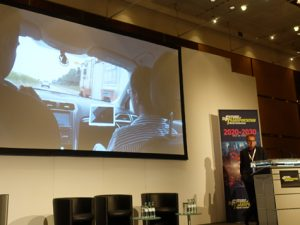 From Nuneaton to Cologne: a video of June's UK Autodrive technology demonstration was shown at the Future of Transportation conference.